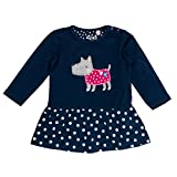 SALT AND PEPPER Baby-Mädchen Kleid B Dress Happy Hund Punkte, Blau (True Blue 453), 68