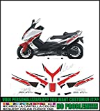 Kit adesivi decal stikers yamaha tmax 2 serie replica w gp 50yh anniversary edition (ability to customize the colors)