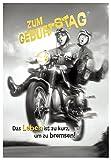 DeCoArt… Geburtstagskarte Zum Geburtstag Motorrad Das Leben ist zu kurz, um zu bremsen!