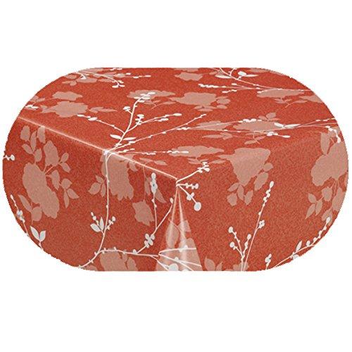 DecoHomeTextil Wachstuch LFGB Milano Lux Rund Oval Größe & Farbe Wählbar Oval ca. 140 x 200 cm...