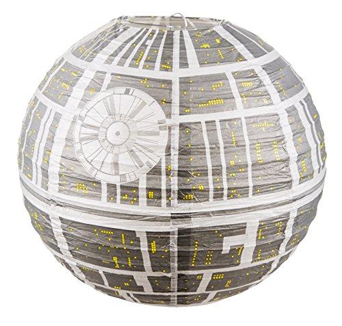 Star Wars Estrella de la Muerte Lámpara Sombrilla de Papel para Lámparas...