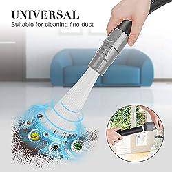 POAO Dust Brosse Universelle pour aspirateur Brosse de Nettoyage pour Air Vents, Claviers, tiroirs, Voiture, Plantes Gris (02)
