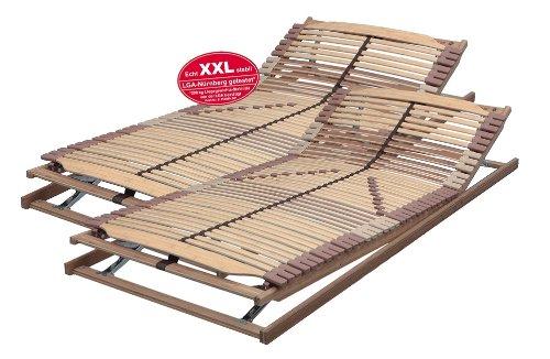 XXL-SET 180x220 cm bestehend aus: 2 x Lattenrost PANDA-SUPERFLEX XXL KF verstellbar in Überlänge 90x220 cm bis 200 kg getestet - SOFORT LIEFERBAR