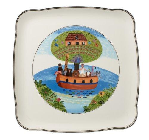 Villeroy & Boch Charm & Breakfast Design Naif Servierplatte, 30 cm, Premium Porzellan, Weiß/Bunt -