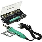 """Brandmal-Kolben Set """"BRK-28 Pro"""" mit Transportbox, 28 Aufsätze, 2 schaltbare Temperaturen, ideal für Hart- & Weichholz"""