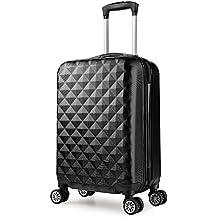 Equipaje de mano 55 cm 4 ruedas maleta ligera 2.4 kg dura cabina ryanair ¡