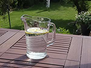 Wasserkaraffe mit Griff - Blume des Lebens - mattiert