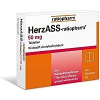HerzASS Ratiopharm 50 mg Tabletten, 100 St. preisvergleich bei billige-tabletten.eu