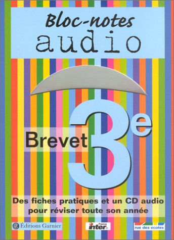 Bloc-notes : Brevet, 3ème (1 livre + 1 CD audio)