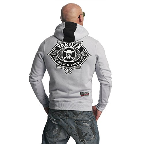 Yakuza Original Herren Sick N Fuck Zip Hoodie Kapuzenjacke gray dawn