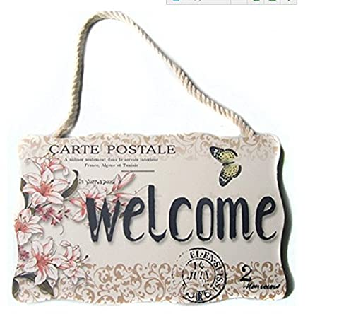 Home et cadeau Welcome Home Love plaque murale Panneau à suspendre plaque de porte