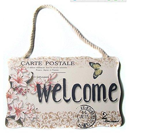Home und Geschenk Willkommen Zuhause liebe Aufhängen Wand Schild Türschild Shop Schild