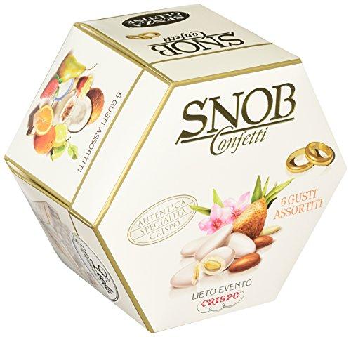 Crispo confetti snob lieto evento 6 gusti assortiti - colore bianco - 4 confezioni da 500 g [2 kg]