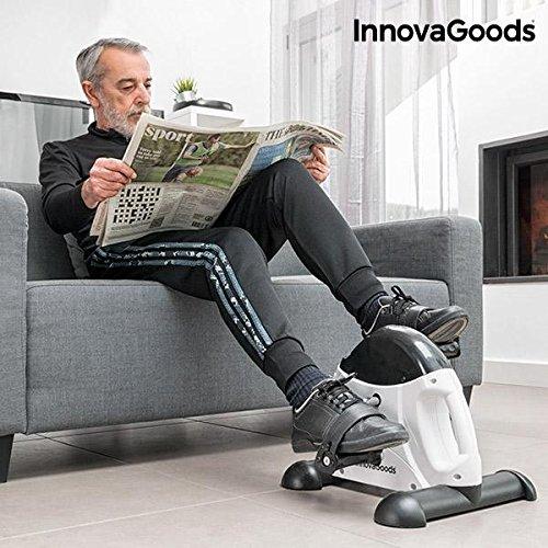 InnovaGoods IG117155 Pedaleador de Fitness, Unisex Adulto, Blanco / Negro, Talla Única