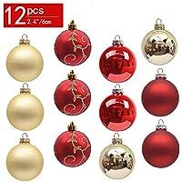 Christbaumkugeln aus Glas in rot 6 cm 12 Stück Weihnachtskugeln