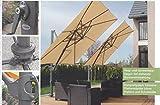 AMPELSCHIRM STABIELO EXKLUSIV FARBE - TAUPE - QUADRATISCH Ø 300 cm x 300 cm Ø 8 teilig - SONNENSCHIRM einfach zu öffnen,zu neigen und zu schwenken - 100 % SPUN POLYESTER ca. 240 g/m²-UPF 50+ ohne Volant - Modell: MONTE CARLO - ZANGENBERG - GERMANY - 300 cm x 300 cm - 8 teilig - Holly ® Produkte STABIELO ® - holly-sunshade ® - Im Preis sind die Versandkosten per SPEDITION enthalten - FRÜH BESTELLEN WEGEN HOHER NACHFRAGE - LIFYSTYLE MODELLE AUF ANFRAGE -