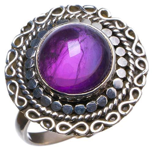 Free People Violett (925er Sterling Silber Amethyst Einzigartig Handgefertigt Ringe 18 1/4 Purple X2114)