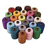 ISOTO, rocchetti di filo da cucito in poliestere, 24colori assortiti, 914,4m ognuno