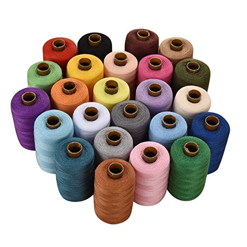 isoto 24verschiedene Farben Spulen Polyester Nähgarn 1000Yards Jeder (Maschine Sticken)
