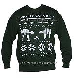 Maglione natalizio con motivo a galassie e maestri Jedi, in stile Star Wars Green Medium