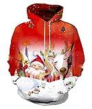 Syaimn Unisex 3D-Druck Kapuzenpullover Casual Pullover Hoodie mit großen Taschen Medium