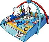 Baby Spielteppich mit Bogen – 4in1 Krabbeldecke & Kuschelteppich mit Spielbogen im bunten & musikalischen Tiere Design