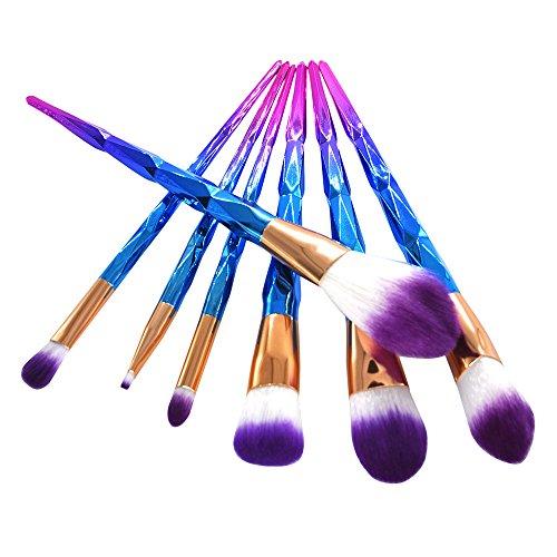 DaySing Brosse Pinceaux Maquillage,7 Pinceaux De Maquillage Set Professionnel Visage Ombre à PaupièRes Eyeliner Foundation Blush Poils Synthetiques Doux Et sans Cruauté