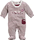 Schnizler Baby-Mädchen Schlafstrampler Schlafoverall Nicki Ringel Top Secret, Oeko-Tex Standard 100, Rot (Bordeaux 9), 62