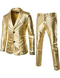 Costume Slim Fit 2 Pièces pour Homme Ensemble De Pantalons De Veste De  Blazer De Smoking De Mariage De… e1540006ae0