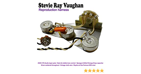 Stevie Ray Vaughan Reproduction Cable Kit Amazoncouk Musical Instruments: Stevie Ray Vaughan Wiring Diagram At Shintaries.co
