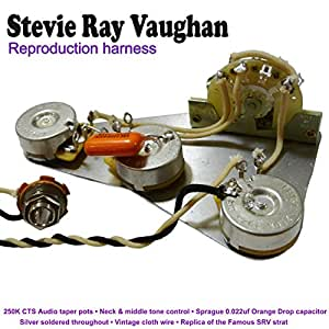 stevie ray vaughan reproduction cable kit amazon co uk musical rh amazon co uk fender srv strat wiring diagram