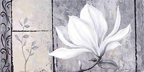 Artland Poster Kunstdruck Wand-Bild Fine-Art-Print in Galeriequalität Reproduktionen A. S. Klassische Magnolie Botanik Blumen Magnolie Malerei Schwarz/Weiß 50 x 100 x 0,1 cm A3GE (Stärken Klassische Print)