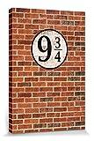 1art1 110709 Ziegelstein-Mauern - Gleis Neundreiviertel Poster Leinwandbild Auf Keilrahmen 30 x 20 cm