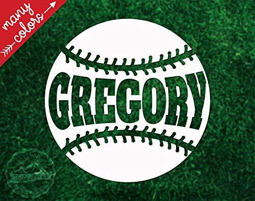Celycasy Baseballhelm-Aufkleber, Vinyl, personalisierbar, Baseball-Aufkleber, Helm-Aufkleber, Name, Softball-Helm-Aufkleber -