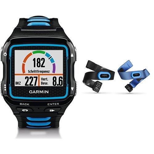 Garmin Forerunner 920XT GPS Triathlon Multisport, Nero/Blu + Fascia Cardio,