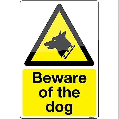 attenti al cane Trasparente adesivo di avvertenza segno di vinile decalcomania 100x150mm