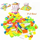 #8: Ps Retail 144Pcs/Set Plastic Building Bricks Kids Modeling Building Bricks Block Toy