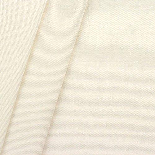 100% Baumwolle Canvas Stoff Meterware Creme-Weiss - Baumwoll-canvas Stoff