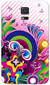 Rebel Multicolor colorful butterfly Art Work printed protective back cover for Samsung Galaxy S5