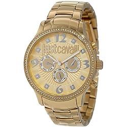 Just Cavalli Damen-Armbanduhr HUGE Analog Quarz Edelstahl R7253127512