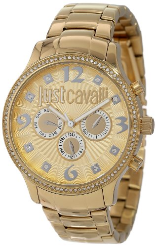 Just Cavalli R7253127512 – Reloj con correa de acero para mujer, color dorado / gris
