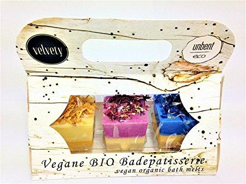 Velvety BIO Badepatisserie 3er Geschenkset Würfel 150g