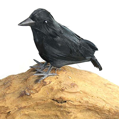 Möwe Ornament (High-End-Simulierte Crow Requisiten Halloween Dekoration Bauernhof Garten Vogel Abwehr Ornamente lebensechte Decoy Deterrent Scares Vögel wie Tauben und Möwen in Gärten)