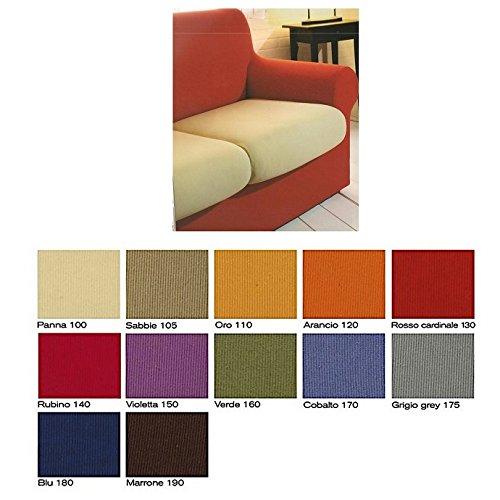 2 copricuscini singoli sofa cover in tessuto bielastico per cuscini da 50 a 75 cm col foto a scelta