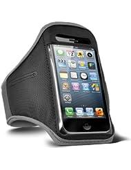 Fone-Case HTC One M7 verstellbaren Sport Fitness Jogging Arm Band Hülle (Grey)