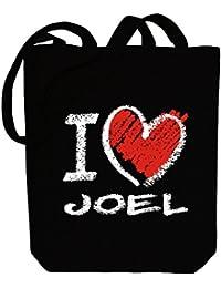410d70b831587e Idakoos I love Joel chalk style - Männliche Namen - Bereich für Taschen