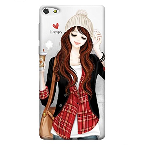Panasonic P55 Novo Printed Back Cover (Soft Cover) girl