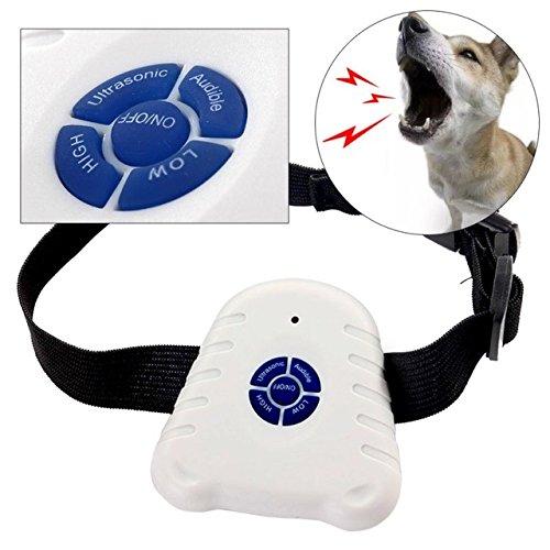 SODIAL 2 x Brand neu Bark Stop Haustier Hunde Halsband Ultraschall Anti Bellen Kontroll (Stromschlag Hund)