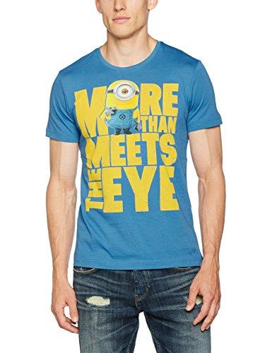 s.Oliver Herren T-Shirt 20707321234, Blau (Blue Aop 52A1), Large