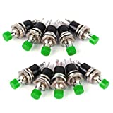 Mini momentane Druckschalter für Modellbahn Hobby 7mm 12 STÜCKE 1A 250 V AC 2 Pins SPST (green)